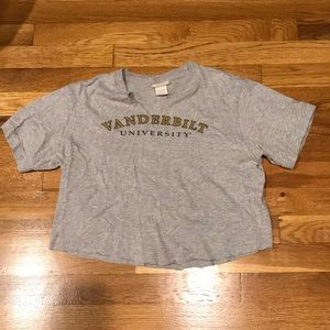 Vanderbilt university tee shirt crop top